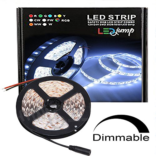 12v led rope light amazon ledjump waterproof white 300 lights smd2835 led ribbon flexible strip lighting 3m taped164 ft 12v this listing doesnt include power supply aloadofball Gallery
