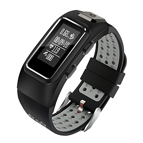 Diggro DB-10 Smart Bracelet Build-in GPS Tracker 20 Days Standby Time Four Sport Modes Heart Rate Monitor IP68 Waterproof Bluetooth 4.0 Calling Message Reminder for Android & iOS(Black+Grey)