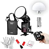 Godox AD360II-C 360Ws GN80 TTL Speedlite Flash with 4500mAh Battery Pack, Flash Trigger, AD-S17 180 Degrees Soft Focus Shade Diffuser and AD-S15 Flash Bulb Protector for Canon