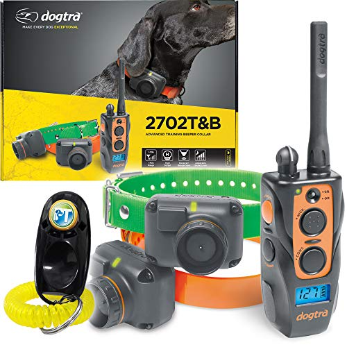 Dogtra 2700T&B / 2702T&B Remote Training and Beeper Collar – 1 Mile Range, Fully Waterproof, Rechargeable, Static…