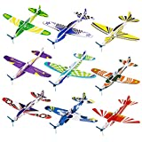"""iBaseToy 36 Pack Glider Planes for Kids - 8"""" Foam"""