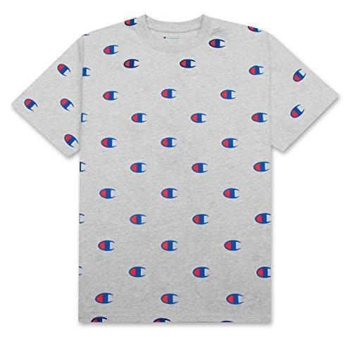 Champion-Mens-Big-Tall-Short-Sleeve-All-Over-Print-Big-C-Logo-Heritage-T-Shirt