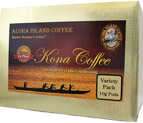 Senseo Pods of 100% Pure Kona Coffee, Variety Pack of Premium 10-Gram Pods, Box of 18 Pods, Reusable Adapter Is Available for Keurig K-cup Brewing Systems