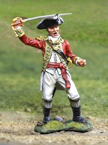 American Revolutionary War British 5th Regiment Foot Grenadier Officer The Collectors Showcase Toy Soldiers Painted Metal Figure 54mm CS00833 Britains Thomas Gunn King and Country Type