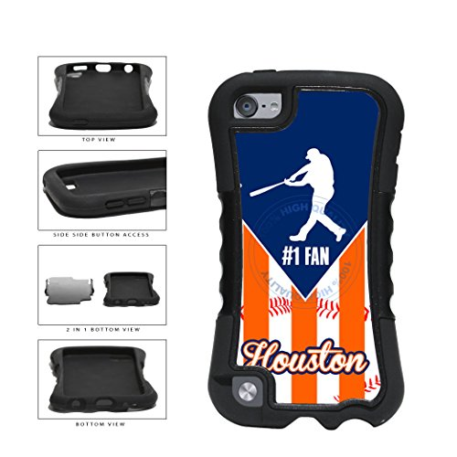 Houston Baseball Number One Fan 2-Piece Dual Layer Phone Case Back Cover For Apple iPod Touch 5th Generation comes with Security Tag and MyPhone Designs(TM) Cleaning Cloth