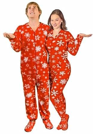 adult multi colored skull feety pajamas