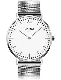 Men's Watch, Dress Watch for Men Analog Wristwatch Outdoor Sports Waterproof Stainless Steel Quartz Fashion Casual...