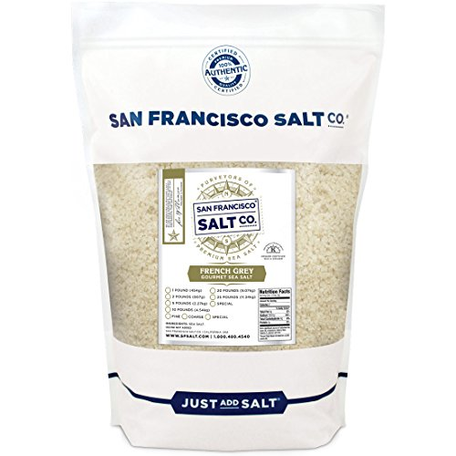 French Grey Sea Salt 2 lb. Bag Coarse Grain, Sel Gris pure & natural sea salt from France