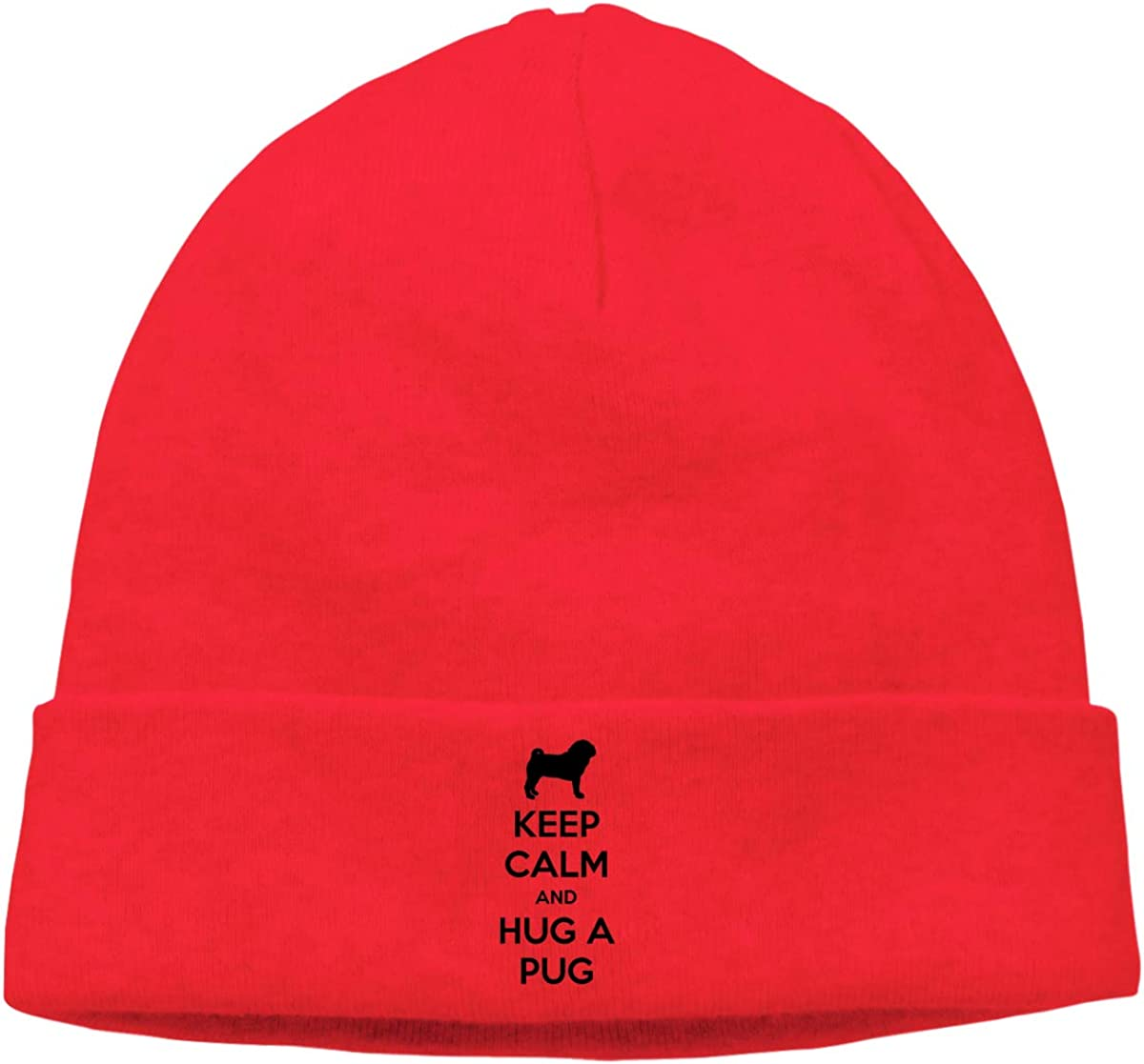 This Pug Needs A Hug Beanie Hat Knit Cap for Mens