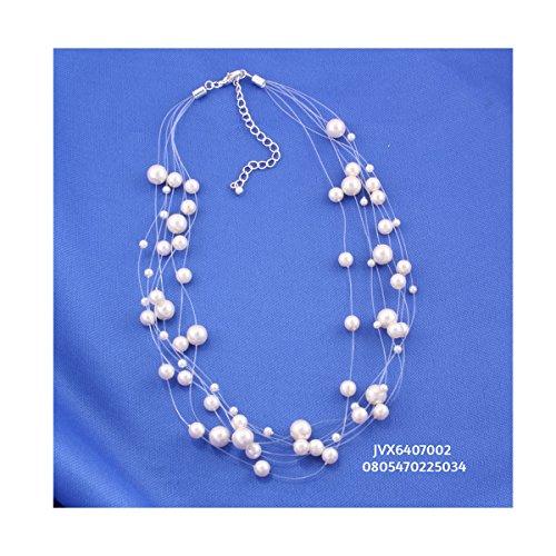 Illusion Necklace Pearl (TAZZA CREAM PEARLS LAYERED/ILLUSION NECKLACE #UN240286N94)