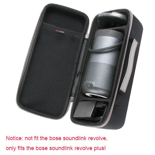 Travel Hard Case for Bose SoundLink Revolve+ Bluetooth Speaker - Fits Wall Charger and Charging Cradle. By COMECASE 4332751245