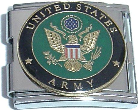 Army Italian Charm - Mega United States Army Italian Charm