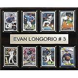 MLB Tampa Bay Rays Evan Longoria Plaque (8-Card), 12 x 15-Inch