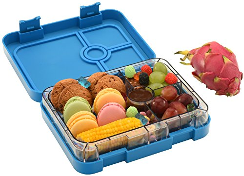 wonderesque bento lunch box leak proof lunch container for kids and adults dark blue. Black Bedroom Furniture Sets. Home Design Ideas