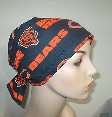 Scrub Cap Chicago Bears Women Chemo Hat Alopecia Head Cover Cancer Scarf
