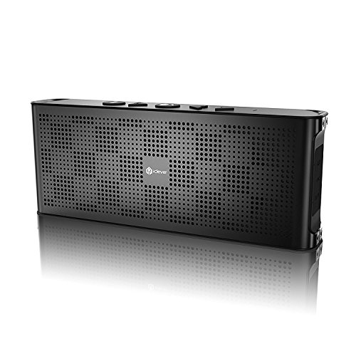 iClever Ultra Slim Portable Bluetooth Speaker with Mic, Aluminum Alloy, Water Resistant
