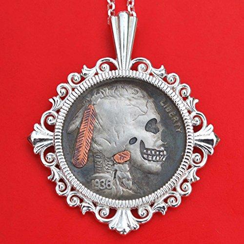 buffalo head nickel necklace - 9