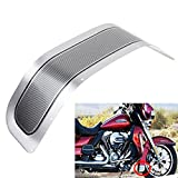 ECLEAR Chrome Motorcycle Front Fender Trim Skirt for Harley Touring Road King Tri Glide 1980-2013