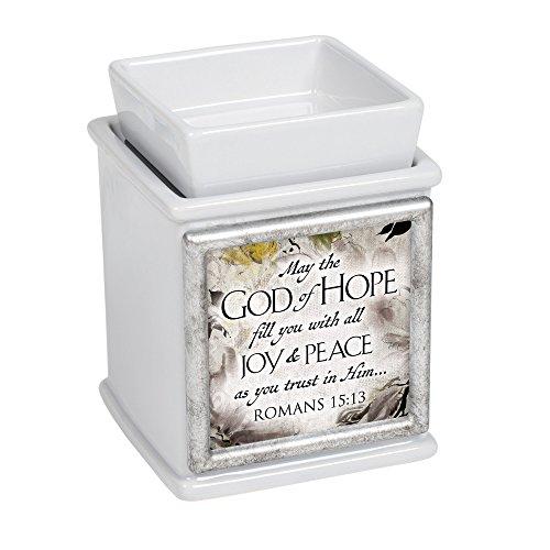 Elanze Designs God of Hope Ceramic Slate Grey Interchangeable Photo Frame Candle Wax Oil Warmer