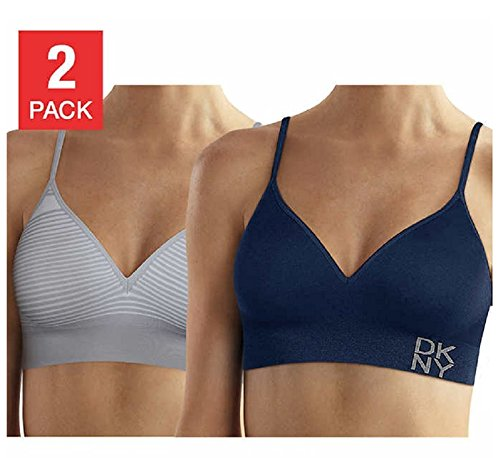 e999adfd64 DKNY Women s Energy Seamless Bralette Everyday Comfort - 2 Pack at Amazon  Women s Clothing store