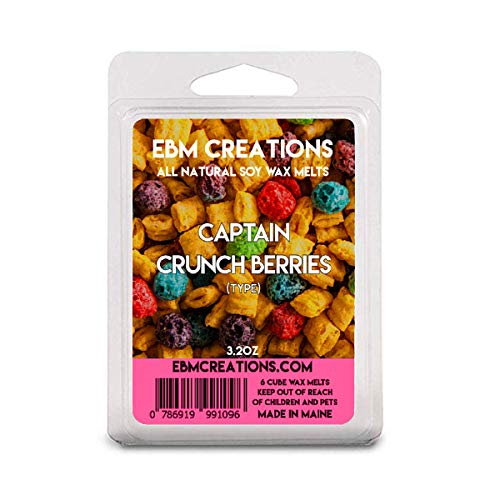 Captain Crunch Berries (Type) - Scented All Natural Soy Wax Melts - 6 Cube Clamshell 3.2oz Highly Scented!