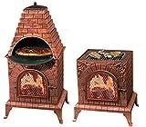 Deeco DM-0039-IA-C Aztec Allure Cast Iron Pizza