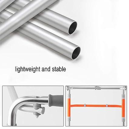 Ayuda de movilidad ligera de aluminio, andador geriátrico ...