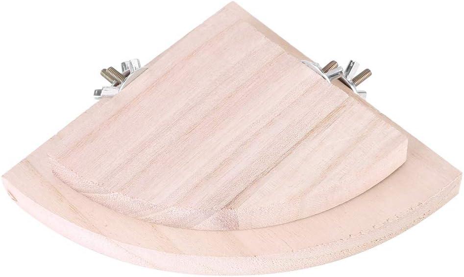 posatoi a forma di ventaglio giocattolo per criceti 2 pezzi Rehomy Gabbia in legno per pappagallo