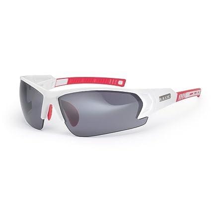 Amazon.com: Bloc Eyewear Bronx Blanco/Rojo anteojos de sol ...