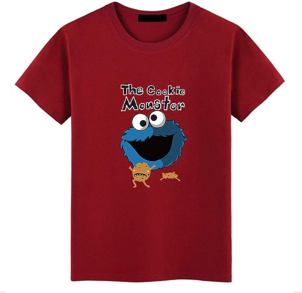 Camiseta de Manga Corta de Dibujos Animados para Hombre Camiseta con Cuello Redondo de algodón K1625 Rojo Vino 4XL: Amazon.es: Ropa y accesorios