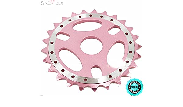New BMX 25T Bicycle Sprockets Chainring Alloy 6061T 23.8mm Silver