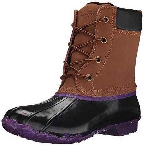 Padded Eye 6 Collar Boot (Western Chief Women's Fashion Duck Boot, Purple, 6 M US)