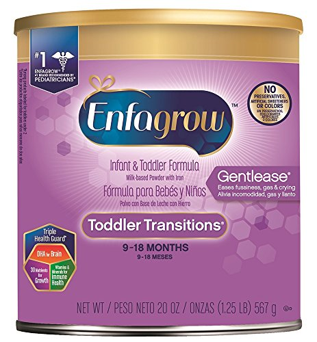 - Enfagrow Toddler Transitions Gentlease Formula - Eases fussiness, gas & crying - Powder can, 20 oz