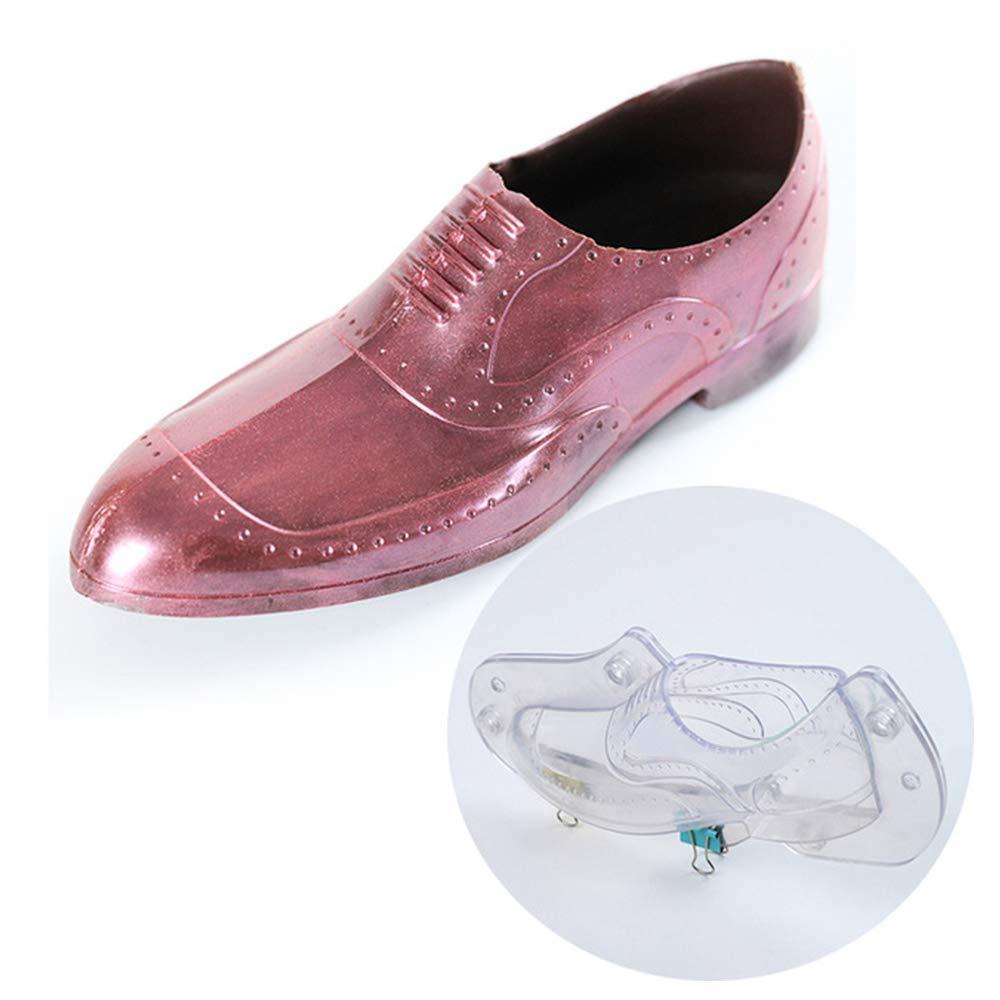 3D Men's Leather Shoe Chocolate Mold - MoldFun 8.5''(L) X 3.9''(H) Men Polycarbonate Plastic Mould for Fondant, Candy, Cake Decorating, Home Baking Sugar Craft Accessories