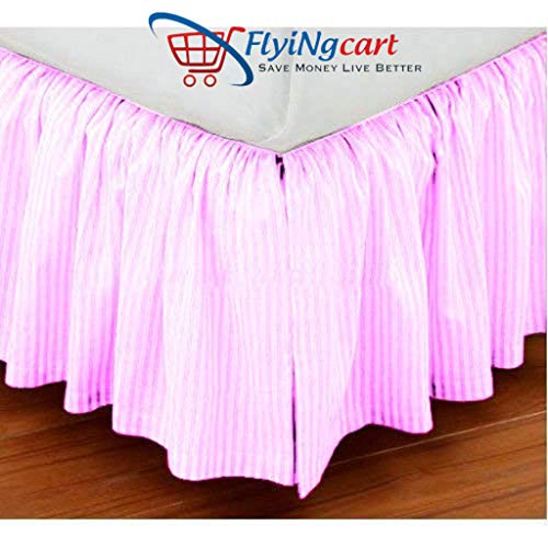 (Flying Cart Soft Finish Long Staple 100% Egyptian Cotton 800 Thread Count Twin Size One Piece Single Ruffle Bed Skirt 13