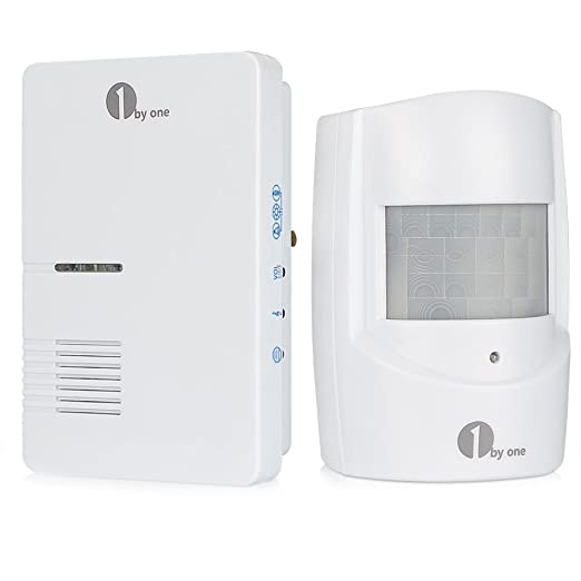 1byone Wireless Home Security Driveway Alarm, 1 Plug In Receiver And 1 PIR  Motion