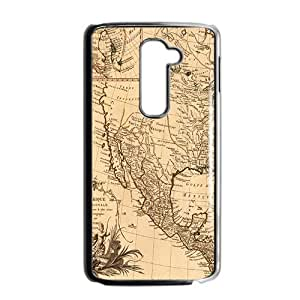 Ancient Map Buried Treasure Black LG G2 case
