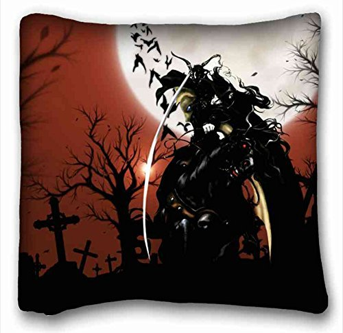 Soft Pillow Case Cover ( Anime Vampire Hunter D ) Popular 16x16 inch One Side Pizza Rectangle Pillowcase suitable for California King-bed PC-Orange-14629