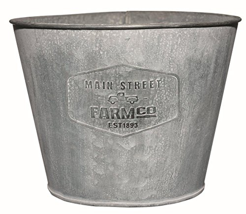 Distressed Planters - Distressed Galvanized Tin Planter - Large