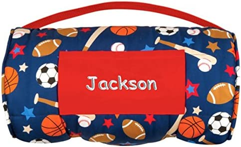 Dibsies Personalization Station Personalized Toddler Preschool Nap Mats Sports