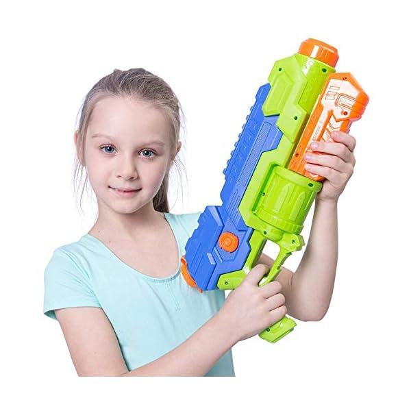 JOYIN 2 Pistole ad Acqua Potenti Bambini Adulti Super Soaker Superliquidator Fucile ad Acqua Giardino Giocattolo di… 4 spesavip