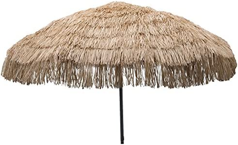 Heininger 1272 DestinationGear Palapa Tiki Whiskey 7 6 Patio Pole Umbrella