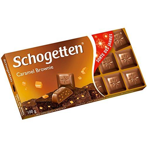 Schogetten Caramel Brownie Chocolate 100 g / 3.5 Oz Bar (Pack of 3)