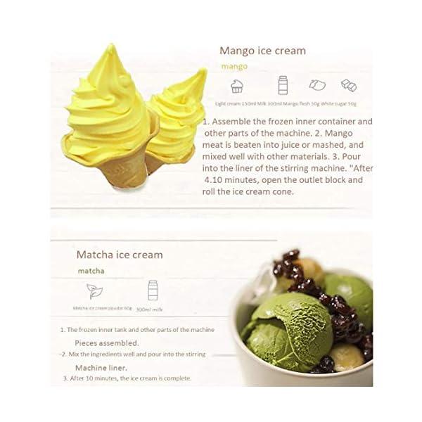 Ice Cream Maker, 1L Automatico Macchina del Gelato con Rimovibile Ice Cream Container E Pala del Silicone, Gelato Makers… 7 spesavip