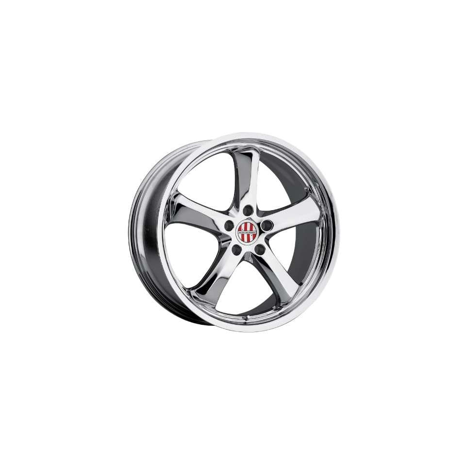 Victor Equipment Turismo 18 Chrome Wheel / Rim 5x130 with a 40mm Offset and a 71.5 Hub Bore. Partnumber 1811VIT405130C71 Automotive