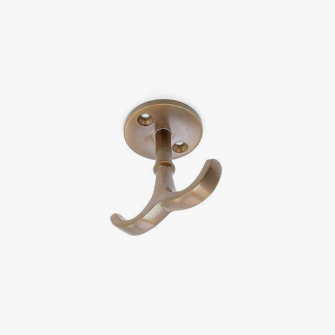 abodent.com Antique Brass Under Bar Oder In Einem Regal Aus Massivem Messing Haken Underneath Kleiderhaken Wand befestigte//T/ürhaken