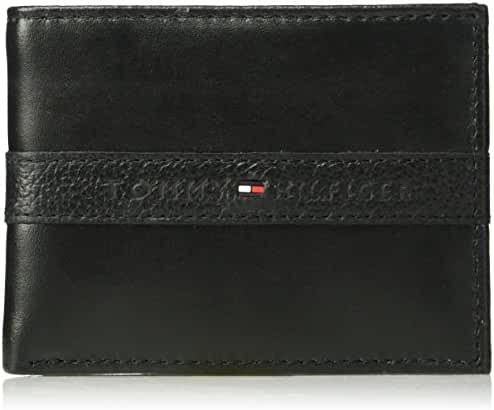 Tommy Hilfiger Men's RFID Blocking 100% Leather Ranger Passcase Wallet