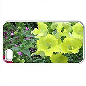 Greenhouse photography day 17 - Case Cover for iPhone 4 and 4s (Flowers Series, Watercolor style, White)