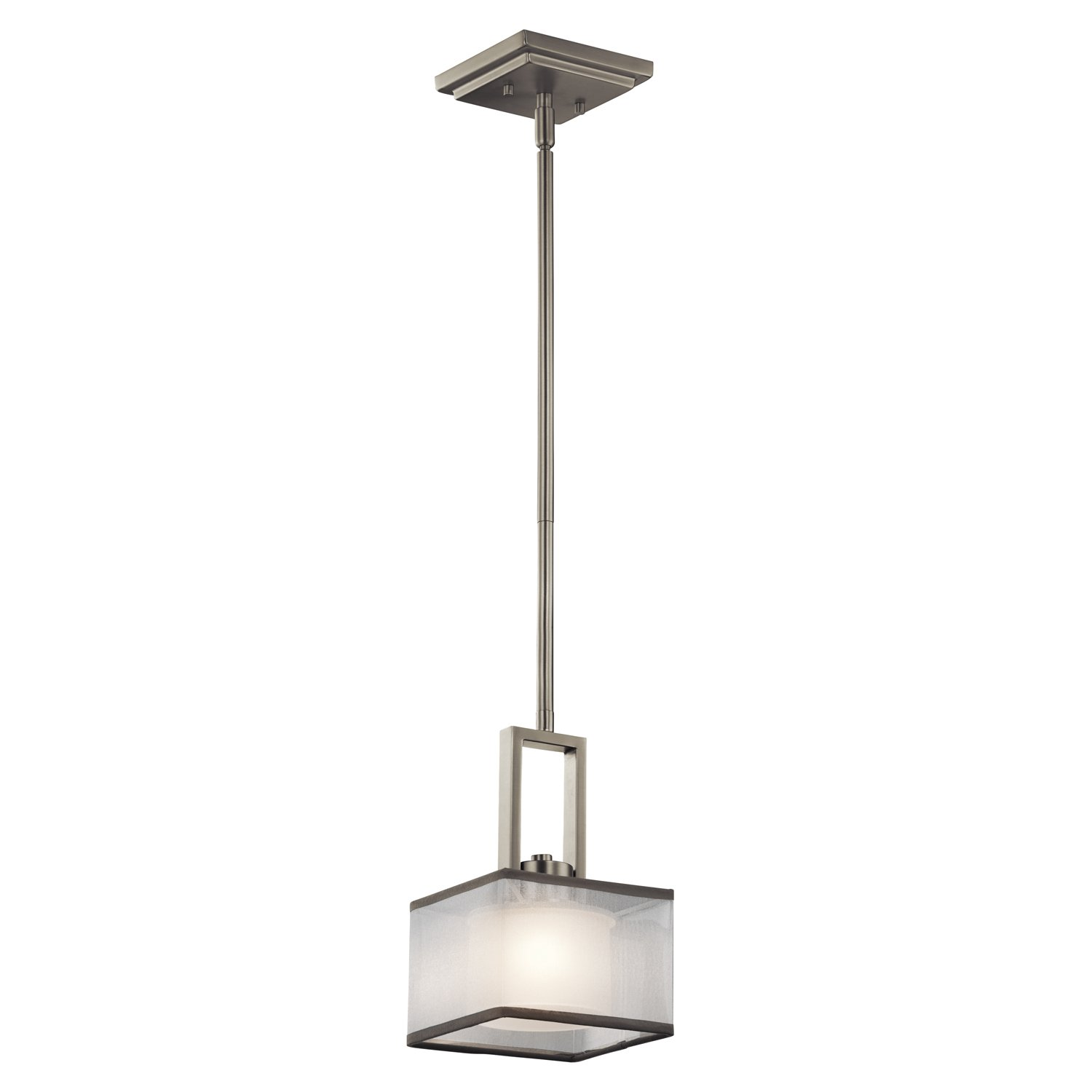 kichler 43442ni kailey mini pendant 1 light halogen brushed nickel