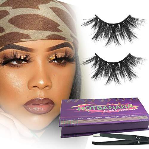 3D Mink Eyelashes,Luxury Siberian Eyelashes Real Mink Lashes Prime Fake Eyelashes Multi-layered Effect Natural Solf Curl…